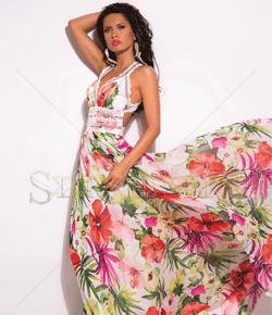 Rochie vaporoasa Mexton Royal Flowers
