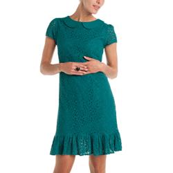 Rochie cu dantela verde smarald