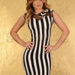 Rochie de seara La Donna Planet Stripes