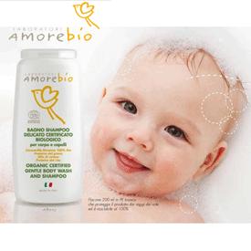 Sampon organic bebelusi AmoreBio fara parabeni