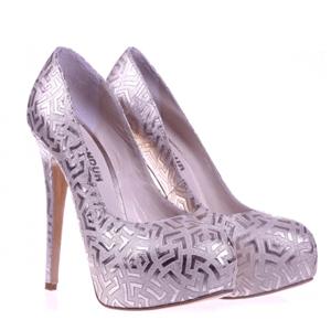 Pantofi Condur by Alexandru mov cu insertii aurii