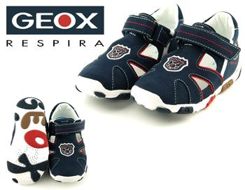 Sandale din material textil si interior piele naturala GEOX
