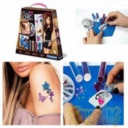 Set tatuaje stralucitoare Clementoni Crazy Chic