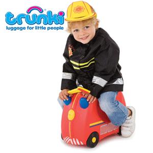 Valiza Trunki Freddie - Masina de pompieri