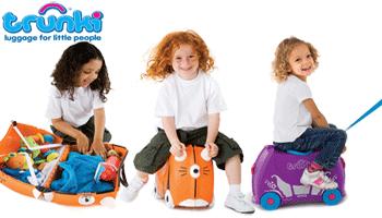 Valizele de transportat bagaje si copii (!) Trunki: valiza-carucior