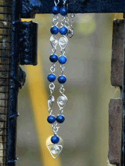 Colier handmade din lapis lazuli