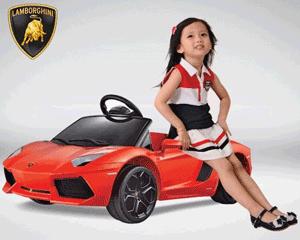 Masinuta electrica pentru fetite Lamborghini