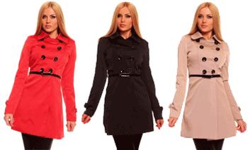 Palton Trench de dama rosu negru sau bej