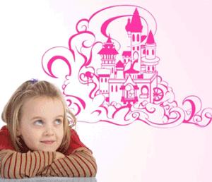 Autocolant pentru peretii camerei fetitei
