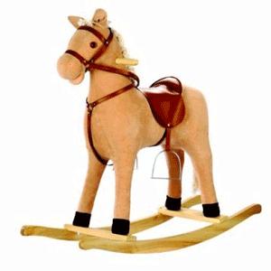Balansoar pentru copii sub forma de calut din lemn