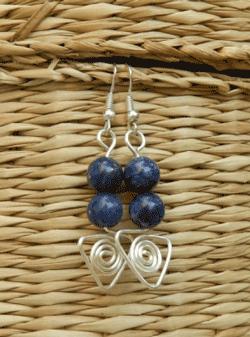 Cercei handmade din lapis lazuli