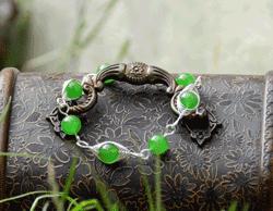 Bijuterii handmade Bratara cu Jad verde