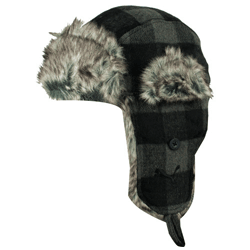 Caciula Puma Shorn Check Trapper