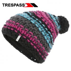 Caciuli colorate, tricotate Trespass pentru fete cochete cu mot