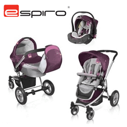 Carucior bebelusi cu landou si cos auto: Vector 4 Air Espiro 3 in 1