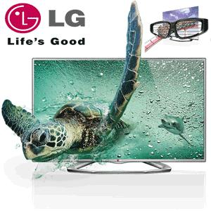 Televizor Cinema 3D Full HD, 81 cm LG 32LA6130 + 2 ochelari 3D Party Pack