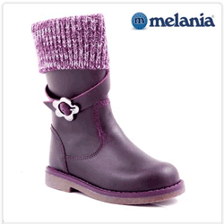 Cizme imblanite Melania din piele pentru fetite