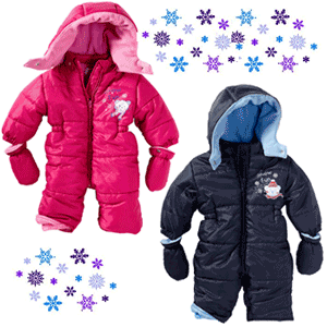 Costum de iarna si manusi pentru bebelusi