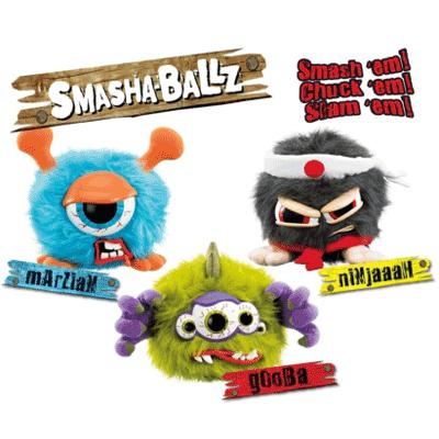 Jucarii interactive din plus Smasha Ballz si Mini Smasha Ballz mArziaN, gooBa si Ninjaaah
