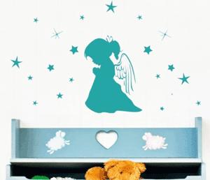 Desen decorativ camera Ingeras intre stele