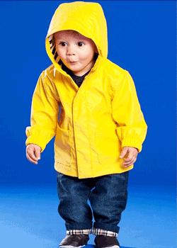 Geaca de ploaie captusita pentru bebelusi