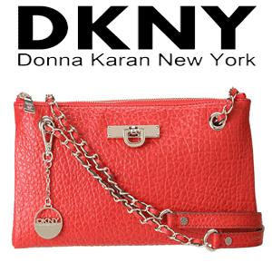 Geata DKNY din piele French Grain Clutch