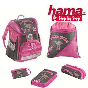 Ghiozdan fetite Step by Step model Flamingo roz