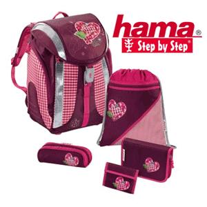 Ghiozdan Hama Step By Step model Tweedy Hearts