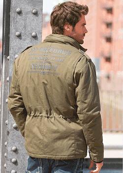 Jacheta barbateasca de toamna model militaresc