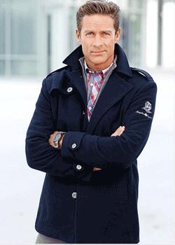 Palton barbatesc scurt elegant