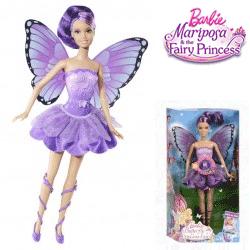 Papusa Barbie Mariposa Zana cu aripi mov