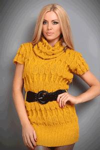 Pulover tricotat cu curea