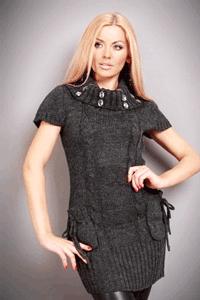 Rochie tricotata din lana pentru toamna
