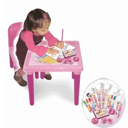 Masuta si scaunel + rechizite Disney Princess