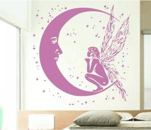 Sticker autocolant decorativ Luna Fantastica pentru dormitor