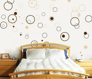 Sticker decorativ autocolant dormitor: Cerculete