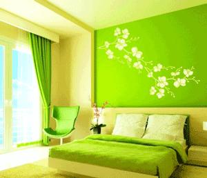 Sticker decorativ flori japoneze