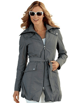 Trench coat in stil modern, sportiv