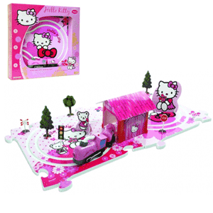 Trenulet electric de jucarie Hello Kitty