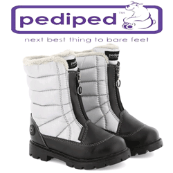 Cizme de zapada pentru fetite Harper Silver de la Pediped