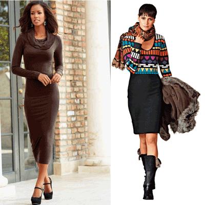 Rochiile tricotate domnesc in moda