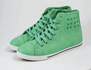 Bascheti cu tinte de dama Dots culoare verde