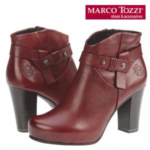 Botine de dama Marco Tozzi Vintage pentru toamna din piele