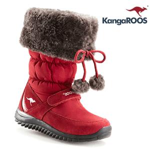 Cizme rosii de iarna dama, fete si fetite Kangaroos