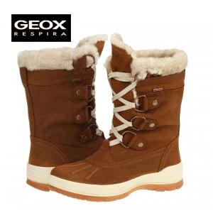 Calitate (si pret pe masura) GEOX: Cizme de dama pentru zapada Sedico cognac