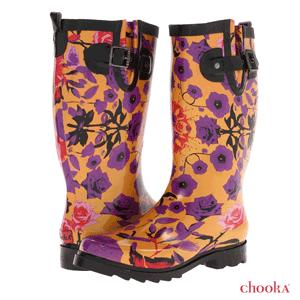 Cizme colorate si elegante de dama, din cauciuc, pentru sezoanele ploioase