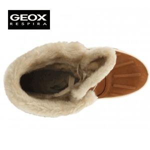 Cizme Geox de iarna si zapada pentru femei Sedico Cognaq