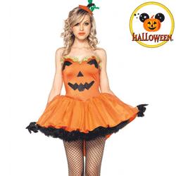 Costum Tematic Halloween Dovleac Pumpkin de dama