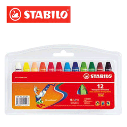 Creioane cerate Stabilo Pastel pentru copiii mici