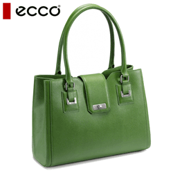 Geanta dama ECCO Belaga Verde din piele